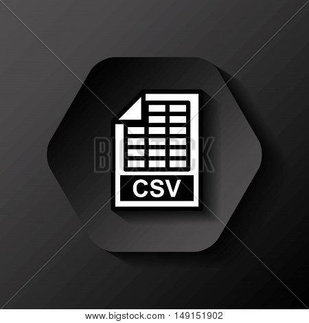 file format button icon vector illustration design