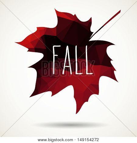 Fall Triangular Maple Leaf