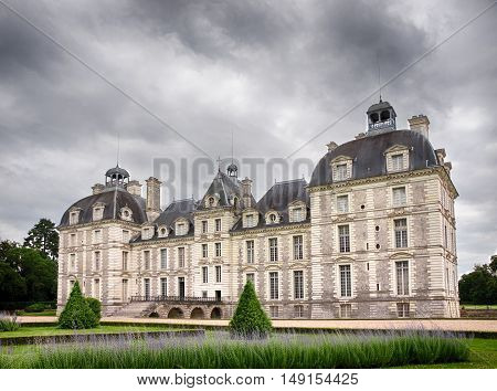 Cheverny Castel in Loire Valley France - July 10 2012 - Back side