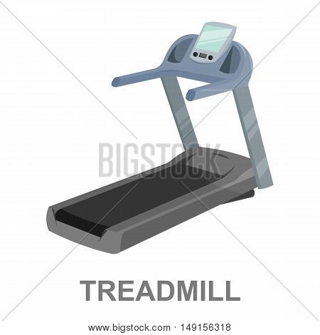 Treadmill icon cartoon. Single sport icon from the big fitness, healthy, workout collection.