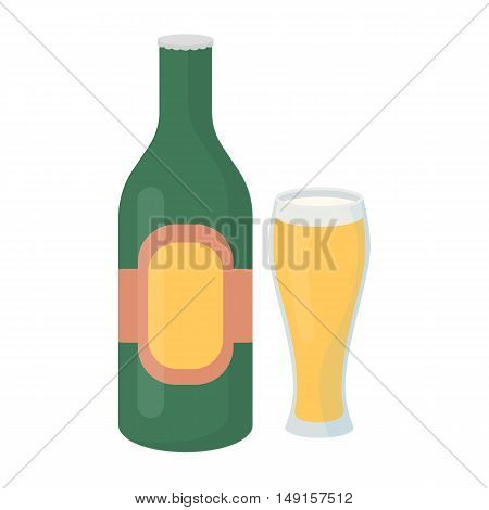 Beer icon in cartoon style isolated on white background. Alcohol symbol vector illustration.