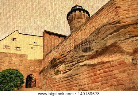 Germany. Nuremberg. Kaiserburg - fortress on the top of Castle Hill.