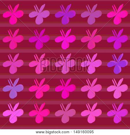 Colored clovers background. Vector pattern art style