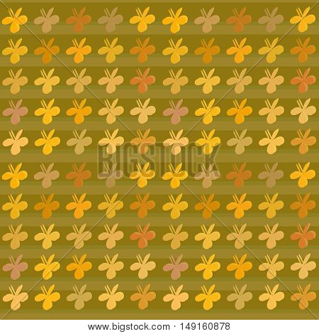 Colored art bright color clovers background. Vector pattern