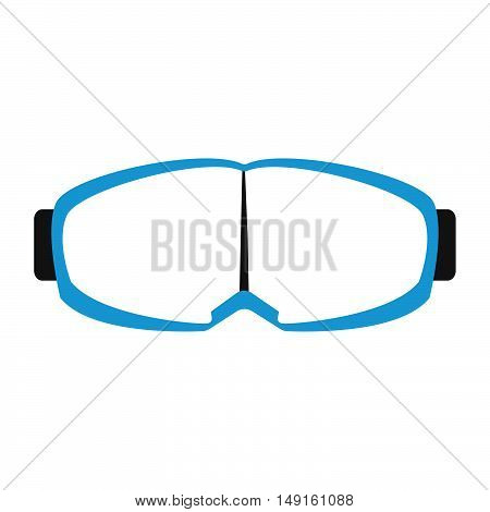 Winter Sports Equipment On White Background. Flat Isolated Glasses Icon. Vector Illustration.