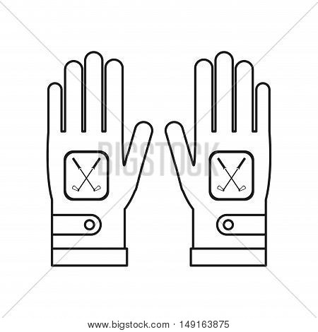 Gloves icon. Golf sport competition and hobby theme. Isolated design. Vector illustration