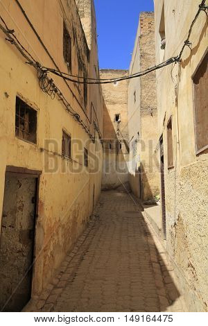 Alley in the old city of Fes Morocco