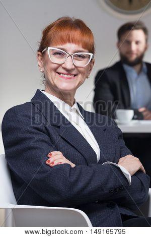 Stylish Job Interviewer In Corporation