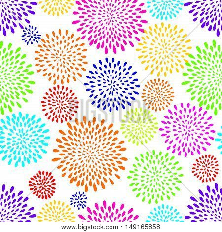 Abstract pattern. Firework spot background. Abstract drop pattern. Seamless rainbow blot pattern