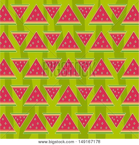 Watermelon seamless pattern texture. Abstract fruit red