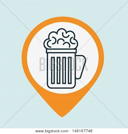 cup glass beer drink vector illustration eps 10