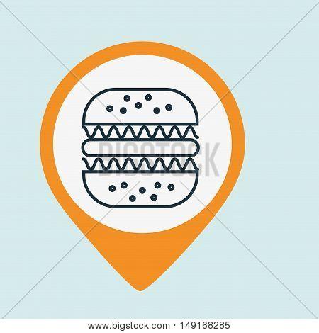 plate bread fast food vector illustration eps 10