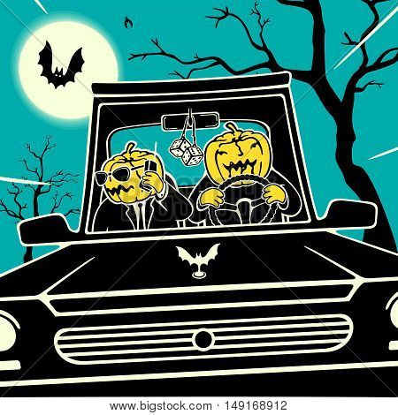 Halloween Cartoon Vector Illustration eps 8 file format
