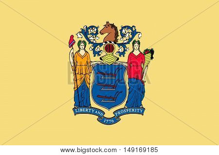 Flag of New Jersey is a state of United States