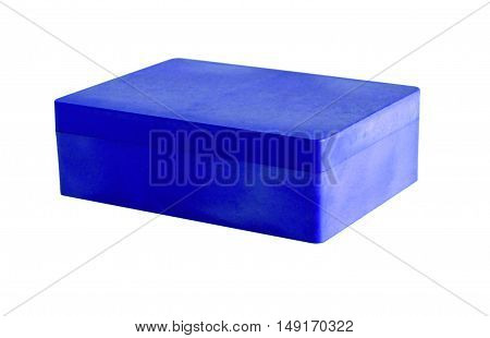 Blue plastic box isolated on a white background