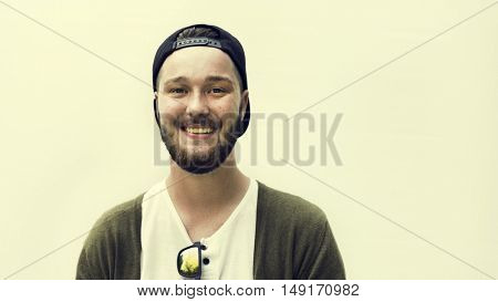 Caucasian Ethnicity Handsome Man Cheerful Concept