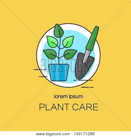 Plant care logotype design templates. Modern easy to edit logo template. Vector logo design series.