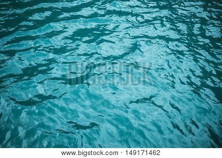 Sea water. Turquoise blue background of ocean water