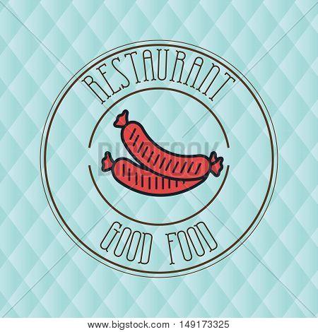sausage fast food hot dog vector illustration eps 10