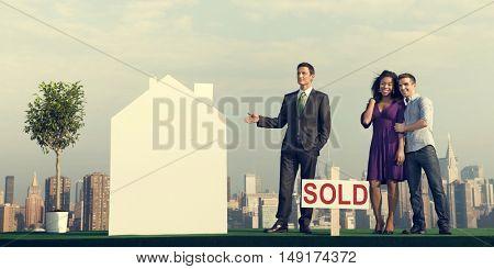 Businessman Investor Construction Sale Property Concept
