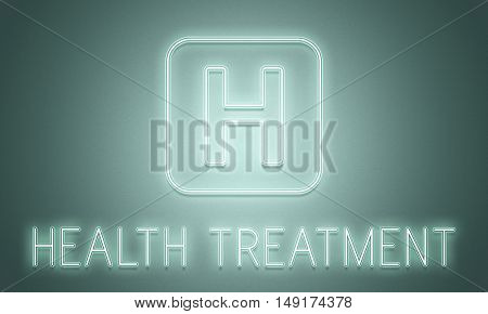 Hospital Cure Health Treatment Icon Graphic Concept