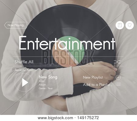 Dj Music Entertainment Streaming Concept