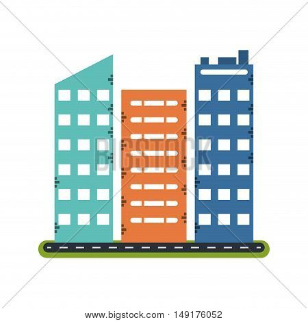 Building with windows icon. Architecture city and real estate theme. Isolated design. Vector illustration