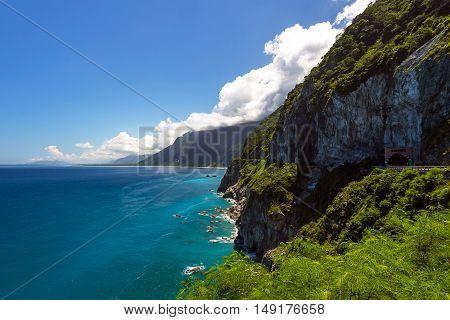 Qingshui cliffs along the coast in Hualien, Taiwan