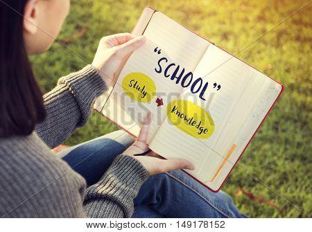Literacy Skills School Wisdom Concept