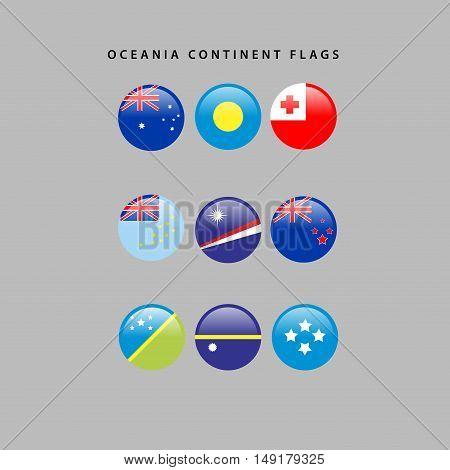 Oceania Flags