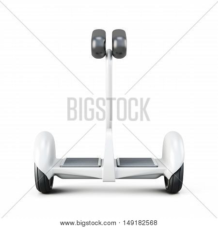 Gyroscooter With Handle Front View. 3D Rendering