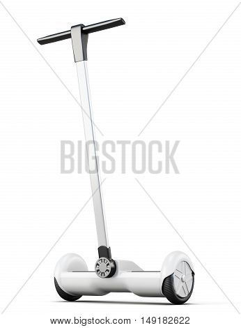 Segway With Handle On White Background. 3D Rendering