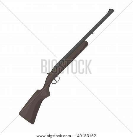 Hunting rifle icon in cartoon style isolated on white background. Hunting symbol vector illustration.