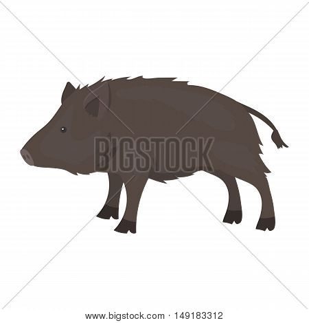 Boar icon in cartoon style isolated on white background. Hunting symbol vector illustration.