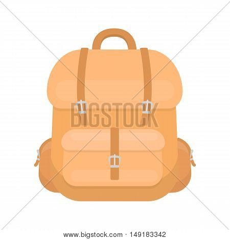 Hunting backpack icon in cartoon style isolated on white background. Hunting symbol vector illustration.