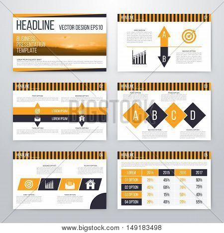 Infographics presentation template flat design. Cover brochure