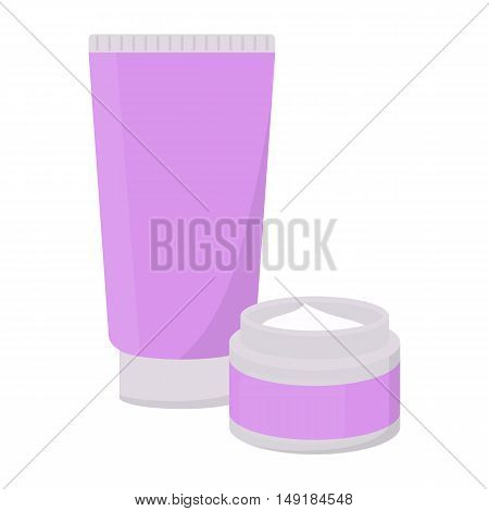 Body creams icon in cartoon style isolated on white background. Make up symbol vector illustration.