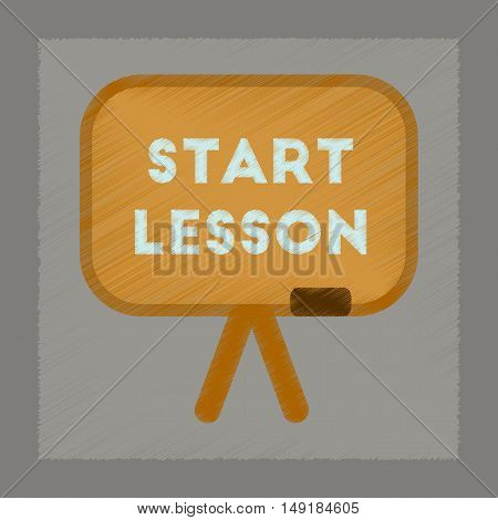 flat shading style icon of board Start lesson
