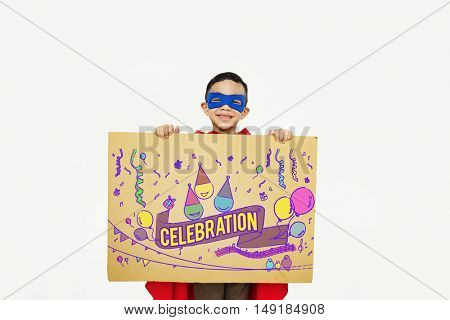 Celebration Congratulations Kid Enjoyment Concept