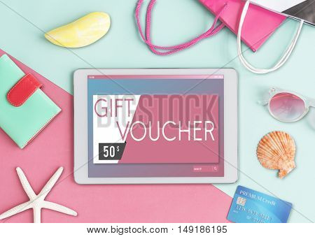 Gift Voucher Offer Coupon Concept