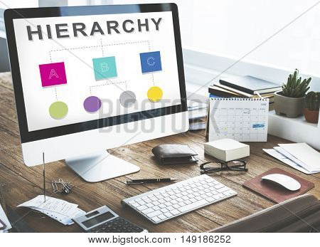 Hierarchy Leader Team Diagram Concept