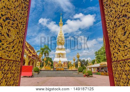 Wat Phra That Panom temple at Nakhon Phanom, Thailand.