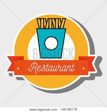french fries potato food vector illustration eps 10