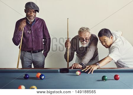 Billiard Ball Club Leisure Sport Shot Team Game Concept