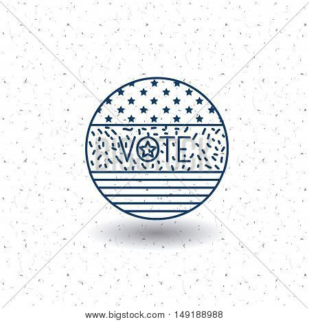 flag circle icon. Vote election nation and government theme. Silhouette and isolated design. Vector illustration
