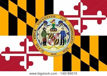 Flag of Maryland is a state of United States