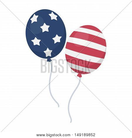 Patriotic balloons icon in cartoon style isolated on white background. Patriot day symbol vector illustration.