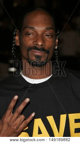Snoop Dogg at the Los Angeles premiere of 'Get Rich or Die Tryin' held at the Grauman's Chinese Theatre in Hollywood, USA on November 3, 2005.