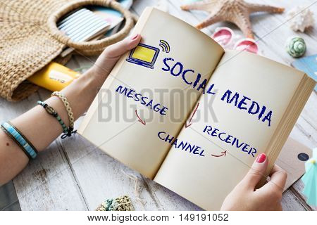 Social Media Channel Connectivity Concept
