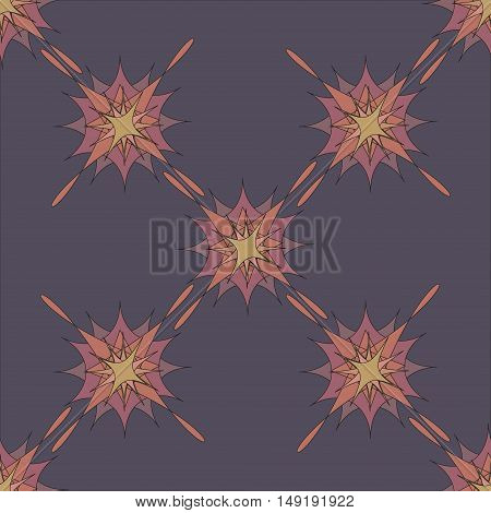Abstract pattern background vector illustration ornate set